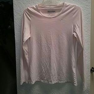 Nike Women's Sports Tee Fit Dry Medium Blush Pink